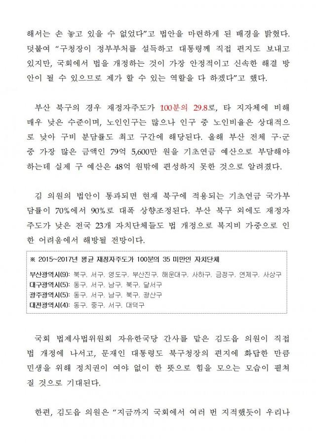 20190122 [보도자료] 김도읍 의원, 기초연금법 개정으로 부산 북구청 재정파탄 해소002.jpg